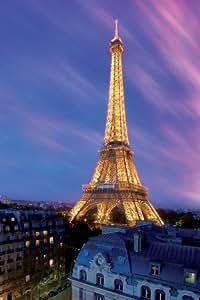 1art1 38108 Poster Paris La Tour Eiffel dans la Brume 91 x 61 cm