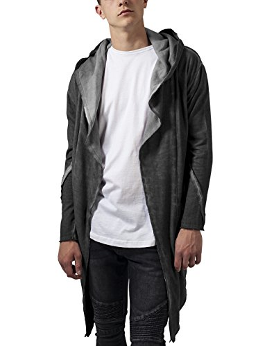 Urban Classics Cold Dye Hooded, Cardigan Uomo, Grau (Darkgrey 94), Large
