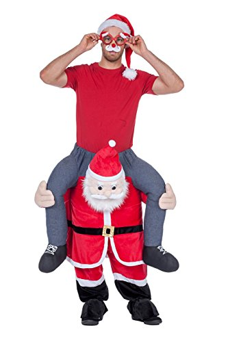 Panelize  Carry me Nikolaus Kostüm mit Mütze Carrying Men Santa Claus Weihnachtsmann (Carry Me Kostüm Weihnachten)