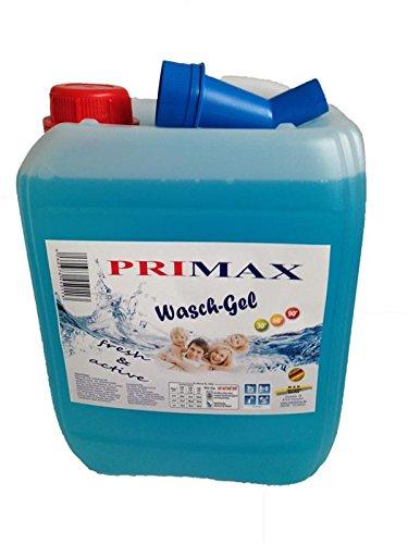 10 Liter Primax Flüssigwaschmittel Meeresbrise blau mit Ausgießer