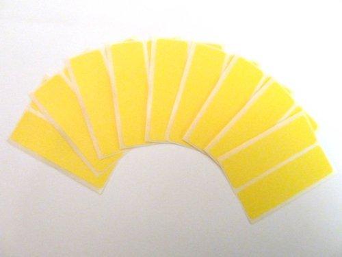 18 Etiquetas, 80x25mm Rectangulo, amarillo, extraible/adherencia BAJA código de color PEGATINAS, autoadhesivo Adhesivo Etiquetas Colores