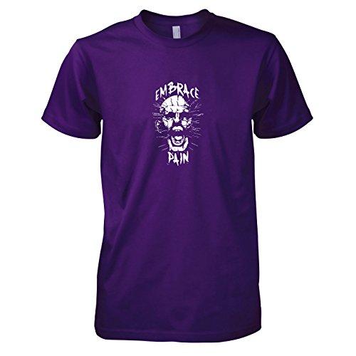 erren T-Shirt, Größe XXL, violett (Herren Pinhead Kostüm)