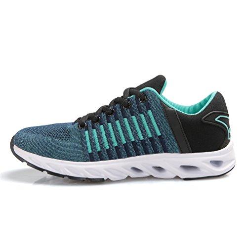 Dexuntong Unisex Turnschuhe Laufschuhe Outdoor Fitness Schuhe Training Sport Running Schuhe Knit Schnüren Schuhe Sportschuhe für Herren Damen36-44 Grün