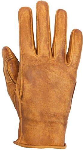 HELSTONS Stella - Guanti da moto estivi in pelle di vacchetta Honey, colore: beige, T9