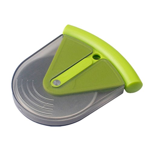 OUNONA Small Stainless Steel Pizza Wheel Cutter Slicer Knife with ABS Cover Kitchen Aid (Green)