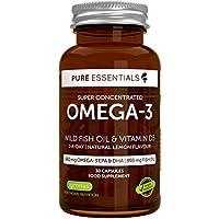Omega- 3 di Olio di Pesce Selvatico Concentrato con Vitamina