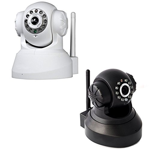 CAMERA IP TELECAMERA CAM WIRELESS WIFI INFRAROSSI MOTORIZZATA IPCAM 10 LED LAN