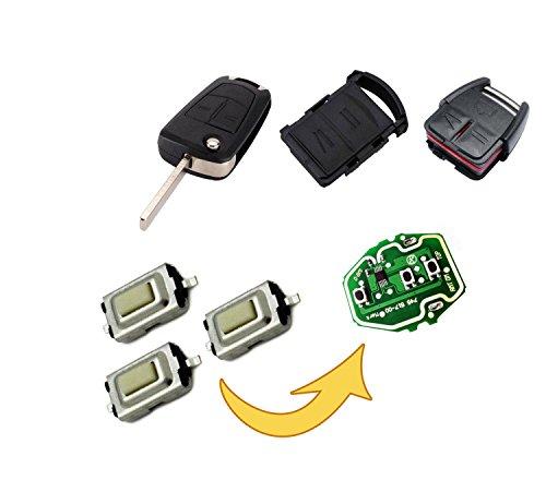 myshopx Microtaster Taster Fernbedienung Schlüssel Fernbedienung Taster Micro SMD Taster Autoschlüssel Opel MP08