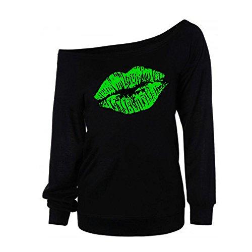 iHENGH Vorweihnachtliche Karnevalsaktion Damen Frauen gedruckt Langarm Sweatshirt Pullover Tops Bluse ()