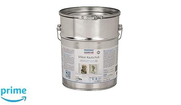 Mehrfarbig 7,5 x 7,5 x 11 cm Mehrere Elemente Glorex Silikon-Kautschuk NV 250 g