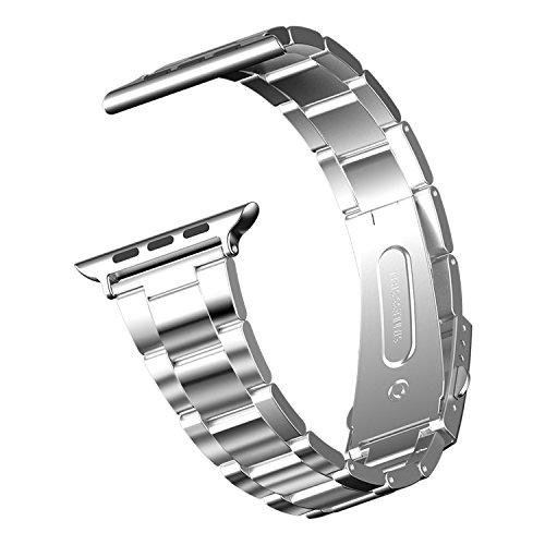 Apple Watch Correa, JETech 42mm Correa de Acero Inoxidable Reemplazo de Banda de la Muñeca con Metal Corchete para Apple Watch Todos los Modelos 42mm (Plateado) - 2105