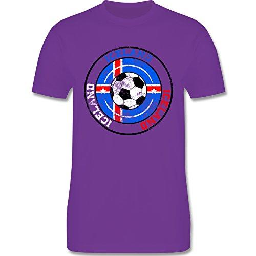 EM 2016 - Frankreich - Iceland Kreis & Fußball Vintage - Herren Premium T-Shirt Lila
