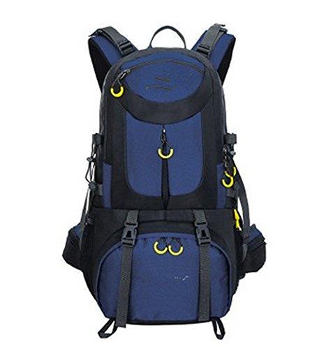 LWJgsa Sport Ihre Taschen Wandern Zelten Taschen Männer Und Frauen Großer Reiten Rucksack navy blue