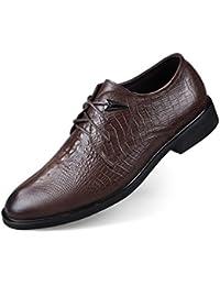 Chaussures En Cuir De Crocodile Modèle Ailishabroy Richelieus Formel Homme Noir (40 Eu, Brun)