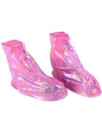 niceeshop(TM) Cubierta Funda de Corto Zapatos de Lluvia Protectora PVC Impermeable con Cierre de Cremallera( Color al Azar, Tamaño M)