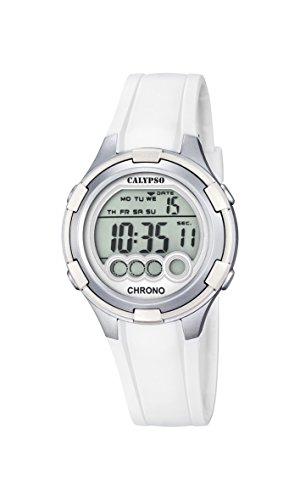 Calypso Mujer Reloj Digital con Pantalla LCD Pantalla Digital Dial y Correa de plástico Color Blanco K5692/1
