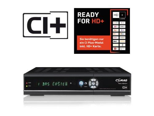 COMAG HD-Twin-Tuner Sat-Receiver (CI+, HDMI, DVB-S/-S2, PVR-Ready, SCART, SPDIF digital Koaxial, USB 2.0) schwarz