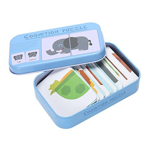 Tier Matching-spiel (Domybest Baby Kinder Kind Eisen Box Karten Matching Spiel Pädagogisches Spielzeug (Tier))