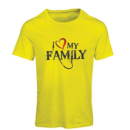 Frauen T-Shirt Einzigartige Designer Hemden zeigen Ihre Liebe - fantastisches zusammenpassendes Kleid der Familie (Large Gelb - Australien Halloween-meme