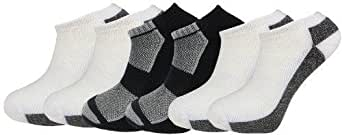 12 Pairs Mens Trainer Liner Socks, Superior Blend with Elastane for comfort. Cushioned for high performance. Front mesh and ribbing. Durable Toe construction. UK size 7-11(Mens Melanj)
