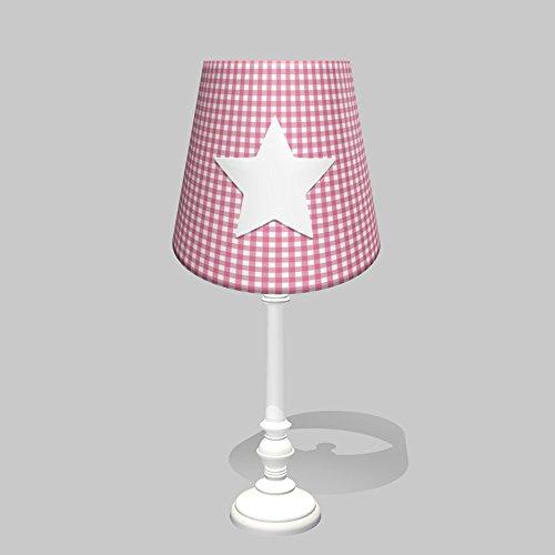 poi-enfelser-lampada-da-tavolo-lampada-da-tavolo-deluxe-star-vichy-karo-rosa-feltro-stella-applicazi