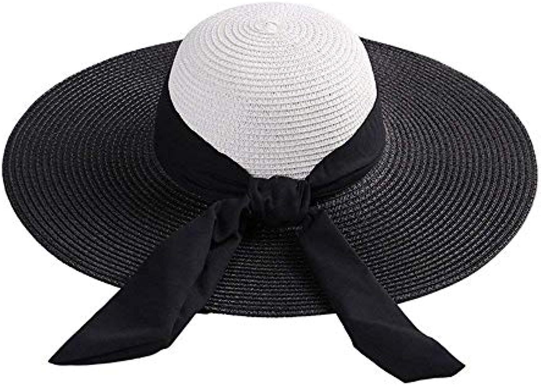 Fuxitoggo Cappello di Paglia Cappello a Tesa Larga Cappello da a Tesa da Cappello  Donna Cappellino Estivo da Spiaggia Cappelli... Parent f2f631 6992de074031