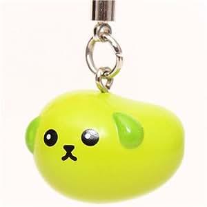 Adorable breloque Dentsu haricot-chien Mameshiba vert