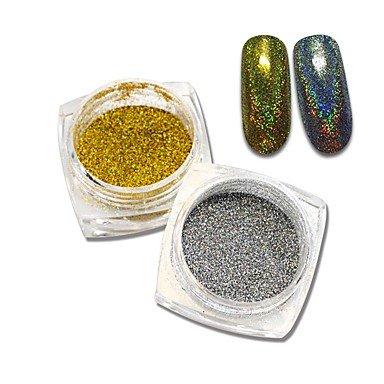 MZP Shinning sirène Poudre de paillettes d'ongle Conseils sur le gel Beauté de la poussière Outil