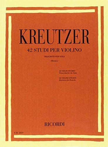 42 studi per violino alto