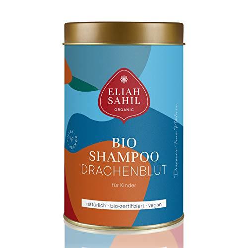 BIO Kinderschampoo DRACHENBLUT von ELIAH SAHIL 100% Bio zertifiziertes Kinder Shampoo Jungen und Mädchen FÜR Haut & Haar I Vegan & Tierversuchfrei I 100 Gramm ca. 30 Wäschen