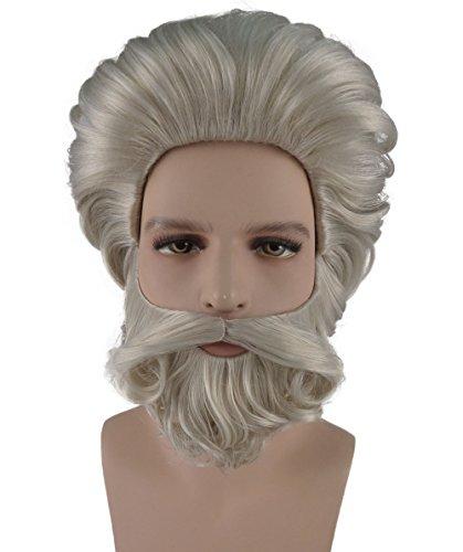 S.E blond Party Kostüm Perücke und Bart Set (Moses Kinder Kostüme)