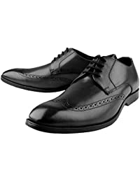 Kanprom Black Longwing Formal Genuine Leather Shoes For Men