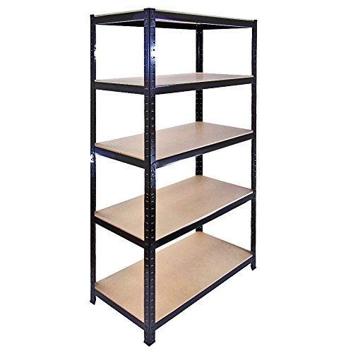 The Shopfitting Shop Heavy Duty 5 Tier Boulons Garage Etagère Serre Utilitaire Rangement de Maison de 1800 x 900 x 400