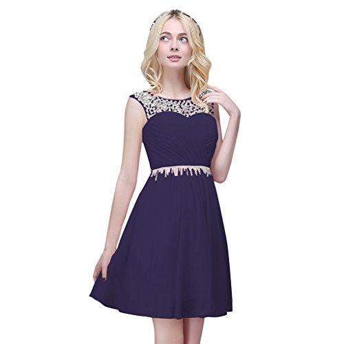 Vimans -  Vestito  - linea ad a - Donna blu navy