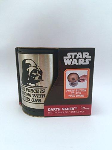 Underground Toys Taza Removible Darth Vader, Aluminio, Negro y Plata,