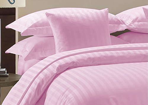 Komfort Bettwäsche 800tc 4Lange Wasser Bed Sheet Set UK King Size 100% ägyptische Baumwolle Stripe, rose, UK King