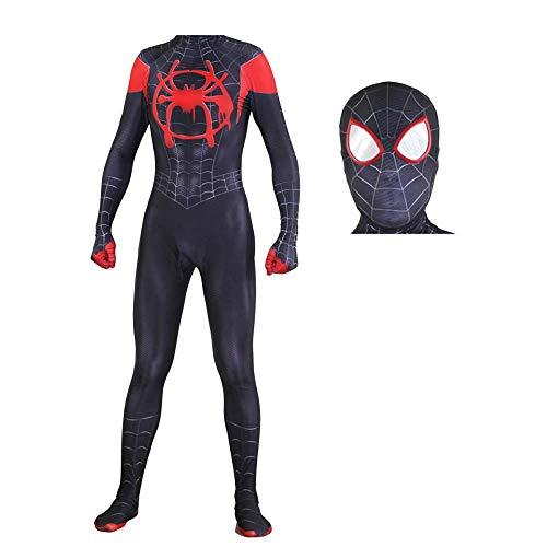 Spiderman Kostüm Qualitäts - QTCWRL Cosplay Kostüm, Schwarze Spinne Kostümball Spiderman Cosplay Strumpfhose (Size : XXL)