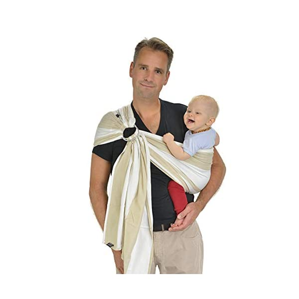 Hoppediz Osaka Ring Sling Hoppediz Suitable from birth until parent or child chooses to stop carrying 100% Cotton Special broken twill weave 1