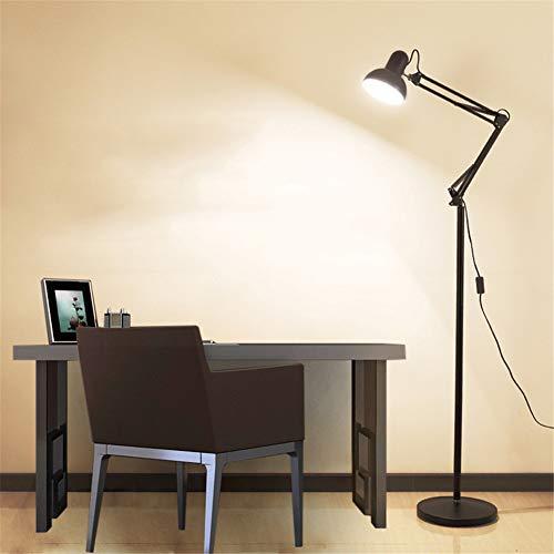 Stehlampe,standleuchte-Architect Swing Arm Stehleuchte mit schwermetallbasiertem, verstellbarem Leselicht für Wohnzimmer, Schlafzimmer, Arbeitszimmer und Büro