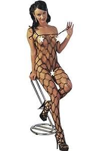 Lingerie Sexy Femme : Combinaison a grosses mailles Taille Unique