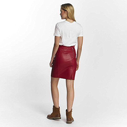 Noisy may Damen Rock Nmpenny Pu Skirt Noos Rot
