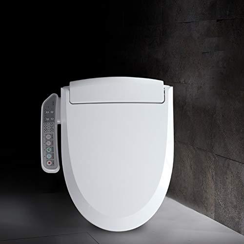 GZF Intelligenter Bidet-Toiletten-Sitz verlängerte Weiß, LED-Seitenverkleidung, Reinigungsroboter