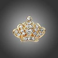 KNOSSOS Women Elegant Classic Crown Piercing Brooch Luxury Female Brooch Pins Golden
