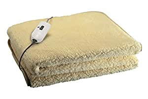 Imetec, Scaldaletto Softly, 50% lana, comando a 2 temperature, per letto singolo
