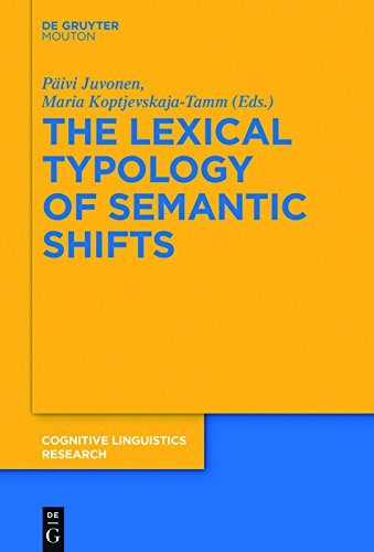 The Lexical Typology of Semantic Shifts (Cognitive Linguistics Research [CLR] Book 58) (English Edition)