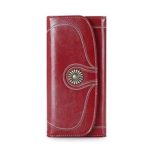 Sendefn 8O-NE5O-WLEL, Damen Damen-Geldbörse, weinrot (Rot) - 5180-JHS.