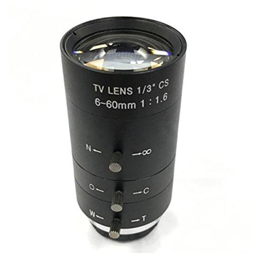 686323dac3 CCTV Lente de Video Manual Iris Zoom 6-60mm CS Lente de Montaje para  microscopio