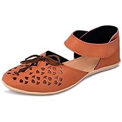 Myra Women's Crail Cutwork Fashion Sandals - 8 (MS668C2S8)