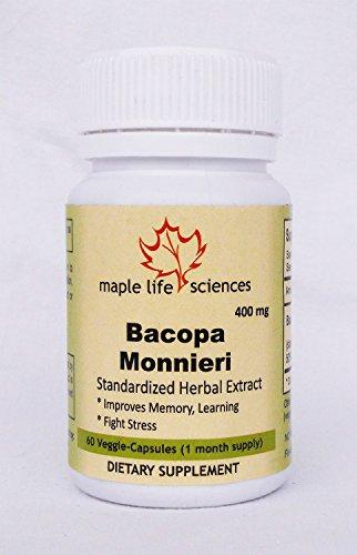 Bacopa monnieri (Brahmi) Extrakt, 400mg, 60 Vegi-Kapseln