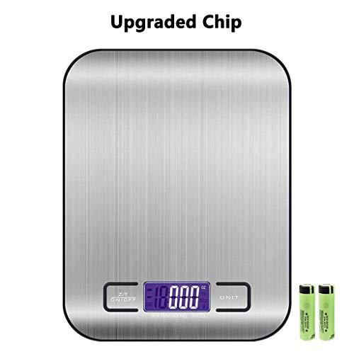 TW1000 Báscula Smart Digital para Cocina con Pantalla LCD Balanza de Cocina electrónica de Alimentos Multifuncional Alta Precisión